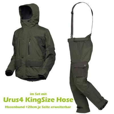 GEOFF Anderson Dozer4 Jacke & Urus4 KINGSIZE Hose | Farbe grün